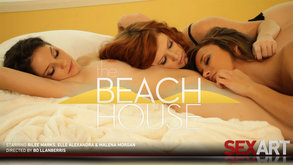 The Beach House starring Elle Alexandra & Malena Morgan & Rilee Marks