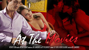At The Movies starring Jasmine W & Lily Love & Malena Morgan & Richie Calhoun