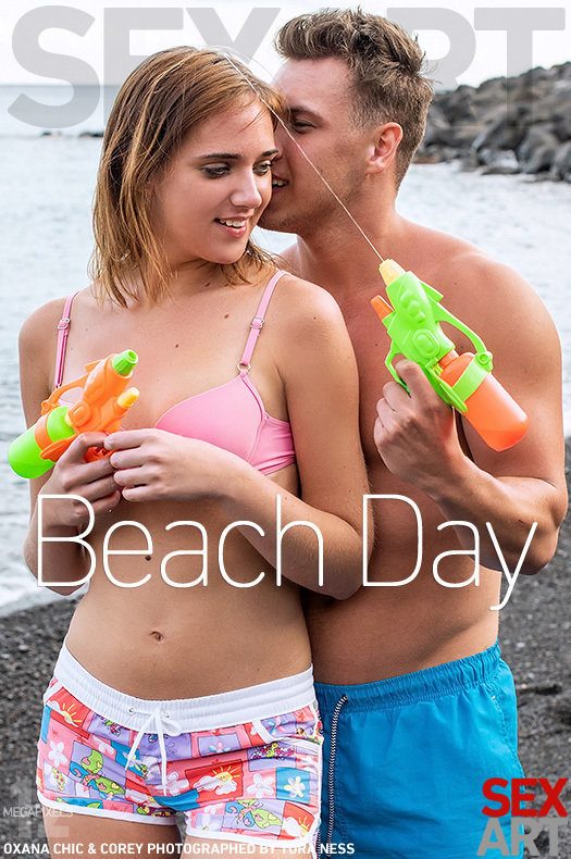 Beach Day featuring Oxana Chic & Corey by Tora Ness