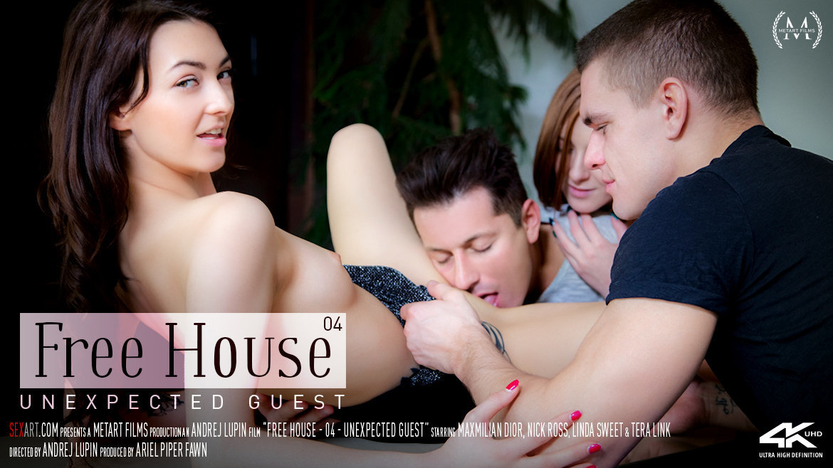 Sex Art - Linda Sweet & Tera Link & Maxmilian Dior & Nick Ross - Free House Episode 4 - Unexpected Visit