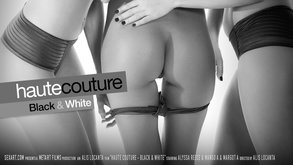 SexArt Haute Couture - Black & White Alyssa Reece & Mango A & Margot A