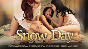 Snow Day starring Aiden Ashley & Elle Alexandra & Kiera Winters