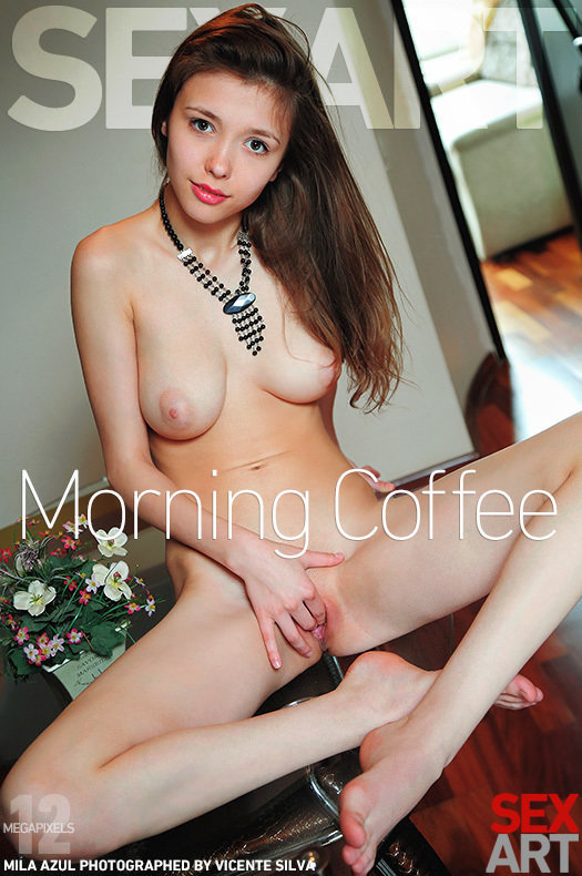Morning Coffee featuring Mila Azul by Vicente Silva