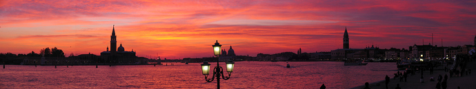 Venice panorama at sunset by Deltagamma
